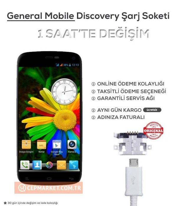 General Mobile Discovery Şarj Soketi Değişimi