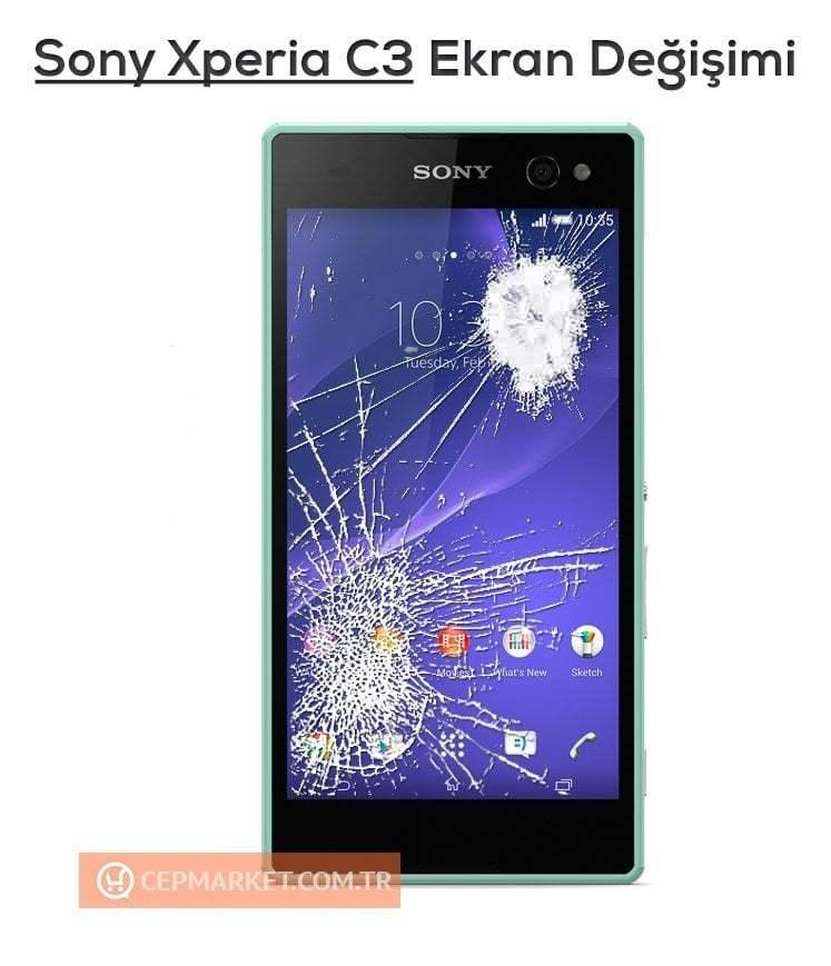 Sony Xperia C3 Ekran Değişimi