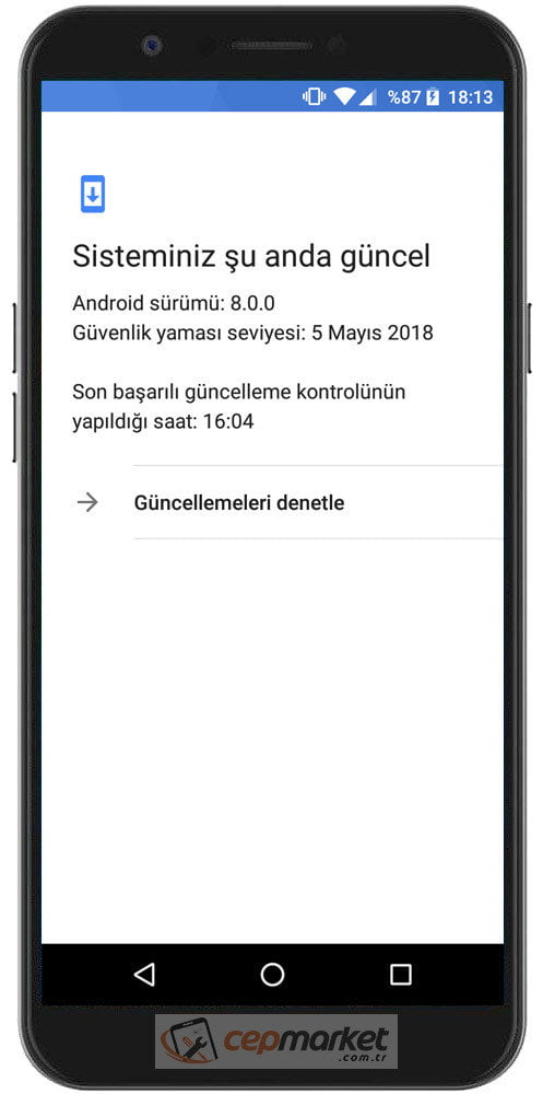 General Mobile GM8 Güncelleme