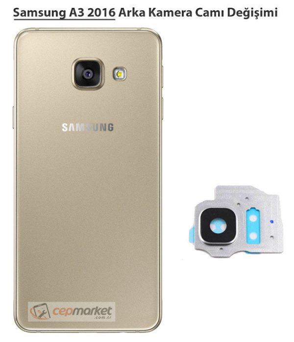 Samsung A3 2016 Arka Kamera Camı Değişimi
