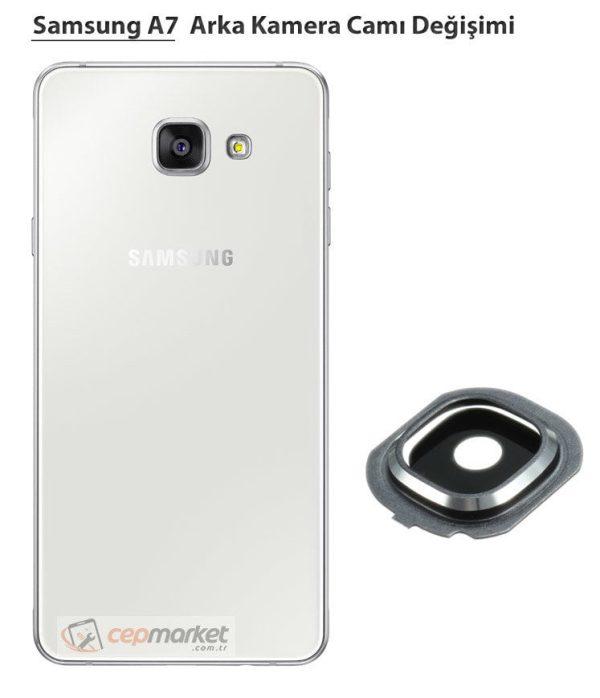 Samsung Galaxy A7 Arka Kamera Camı Değişimi