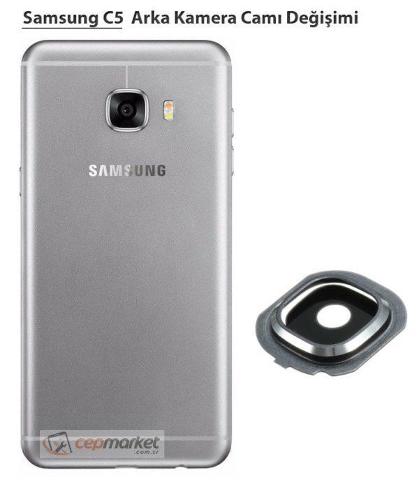 Samsung Galaxy C5 Arka Kamera Camı Değişimi