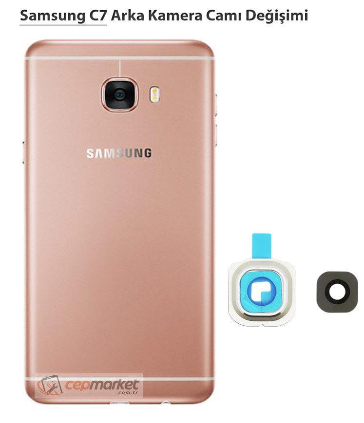 Samsung C7 Arka Kamera Camı Değişimi