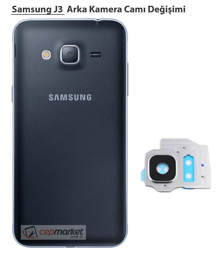 Samsung J3 Arka Kamera Camı Değişimi