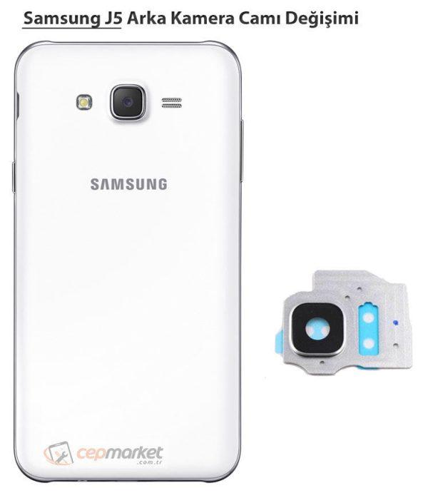 Samsung J5 Arka Kamera Camı Değişimi
