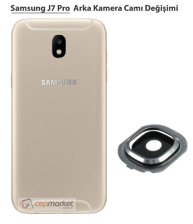 Samsung Galaxy J7 Pro Arka Kamera Camı Değişimi