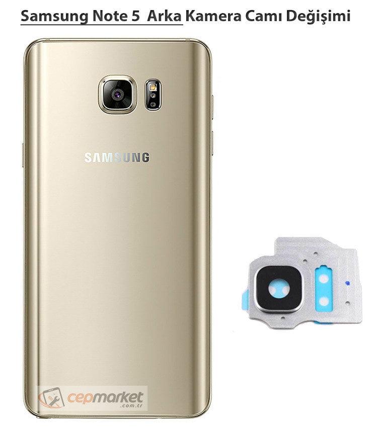 Samsung Galaxy Note 5 Arka Kamera Camı Değişimi