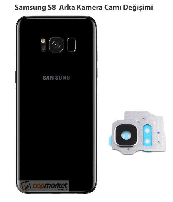 Samsung Galaxy S8 Arka Kamera Camı Değişimi