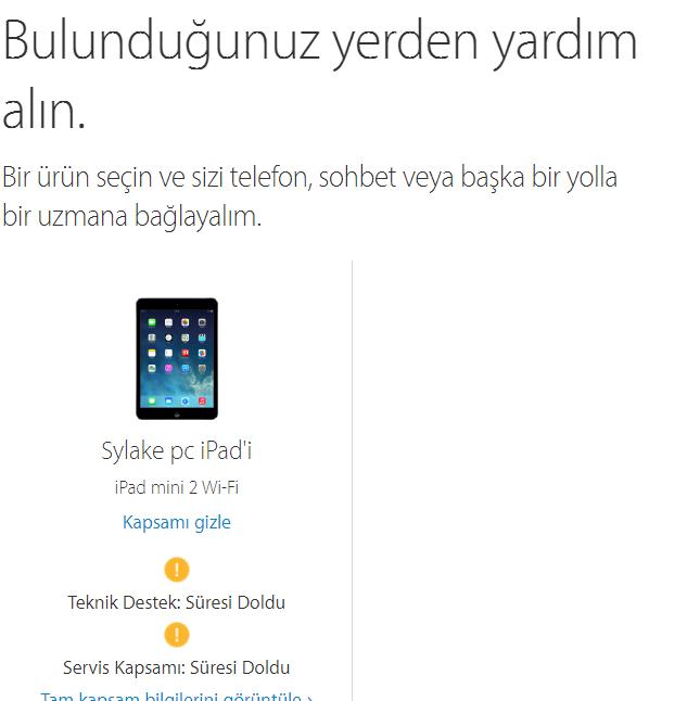 iPad Garanti Sorgulama