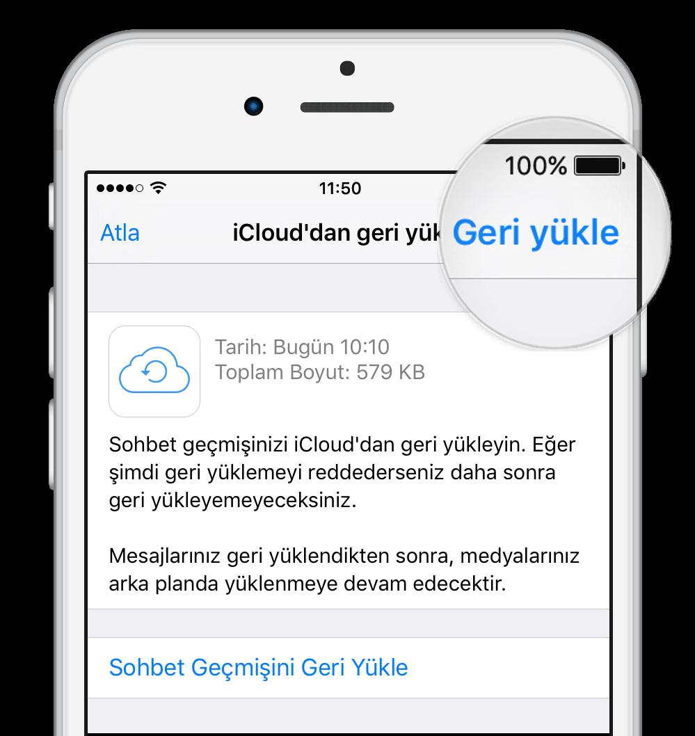 iCloud Geri Yükleme