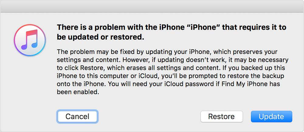 iPhone Güncelleme Sorunu