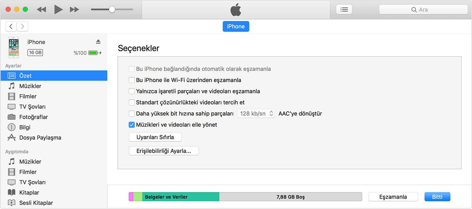 iPhone Müzik Atma