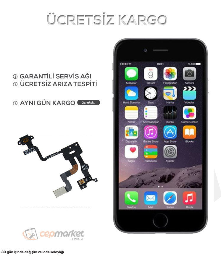iPhone 6s Açma Kapatma Power Güç Tuşu Değişimi