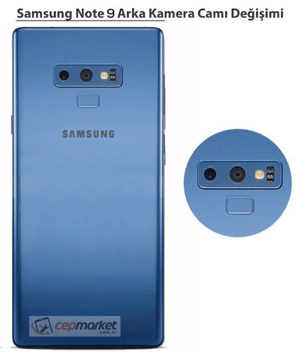 Samsung Note 9 Arka Kamera Camı Değişimi