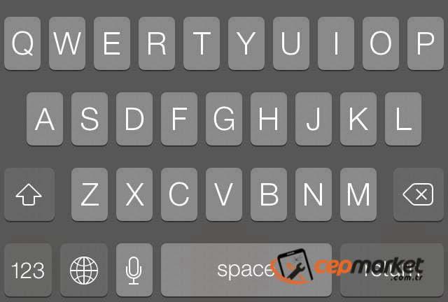 iPhone Ekranda Klavye Gölgesi