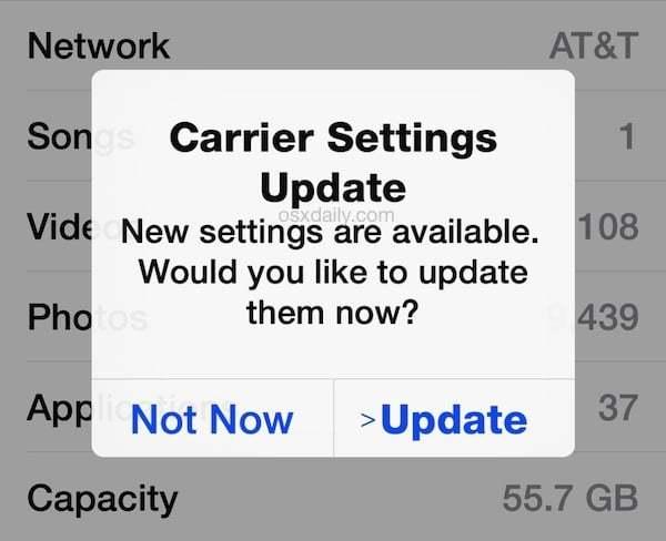 iPhone Operatör Güncellemesi Nasıl Yapılır?