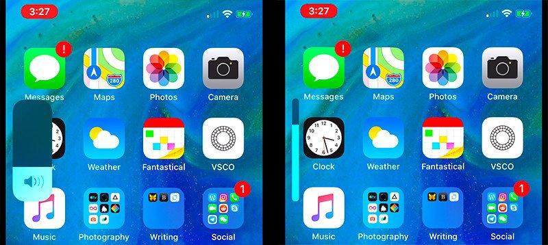 iPhone'da Yeni Volume HUD Özelliği