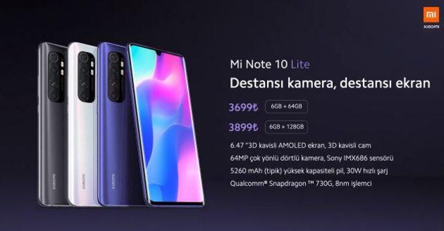 Redmi Note 9 Pro ve Mi Note 10 Lite Türkiye Fiyatları